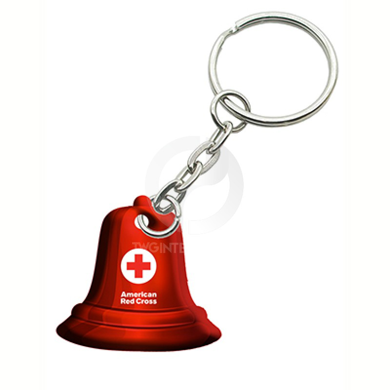 ARC Puffy Christmas Bell key chain V7370-14 MS