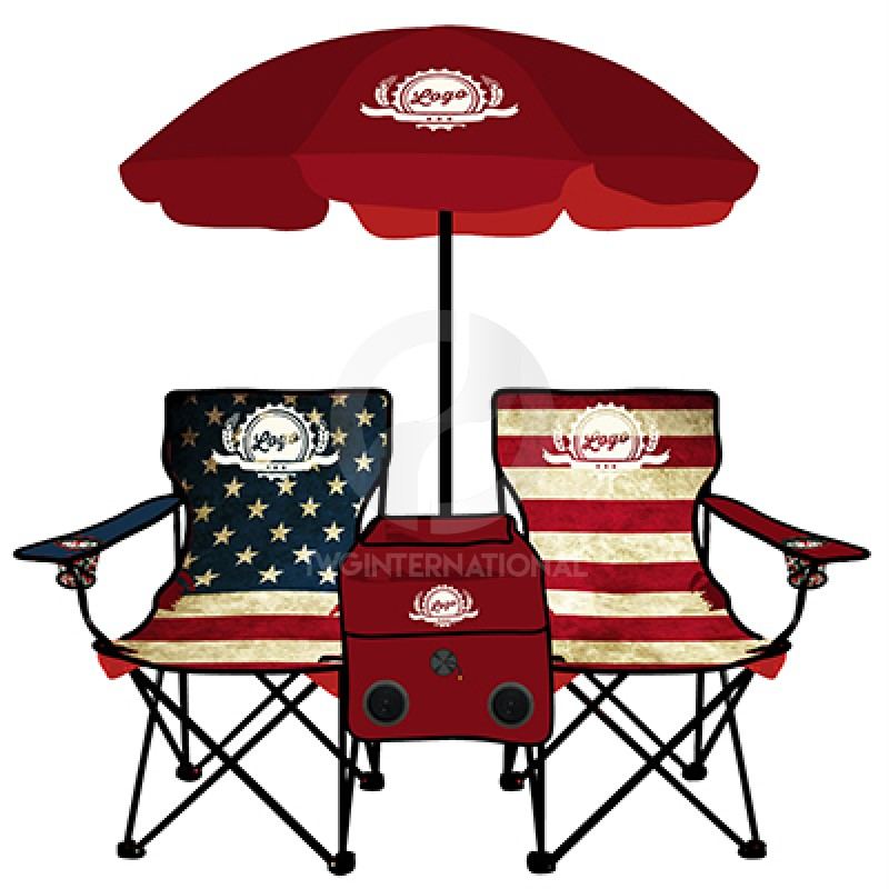 Americana Folding Chair with Cooler