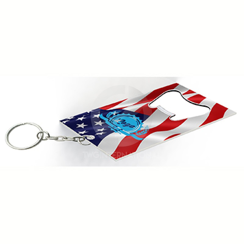 Americana Key Chain Bottle Opener V7369-14