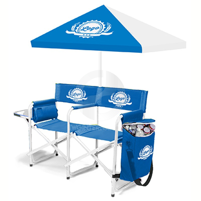 Double Folding Chair Umbrella Chairs /